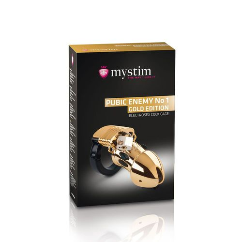 Mystim Pubic Enemy No1 Peniskäfig mit E-Stim Gold Edition - Novum Erotik Online Sex Shop