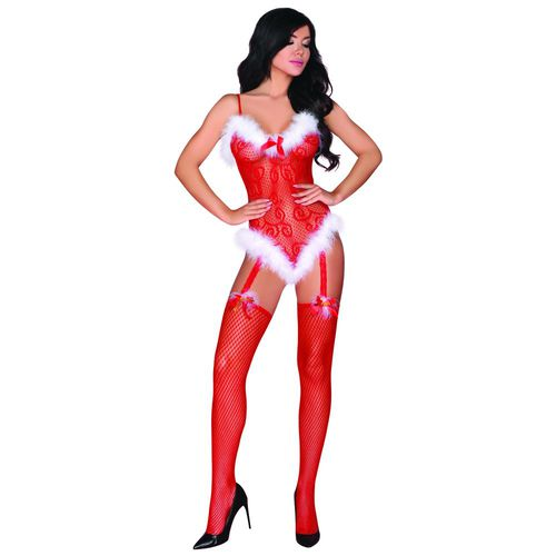 LivCo Corsetti Fashion Shivali Christmas Catsuit - Novum Erotik Online Sex Shop