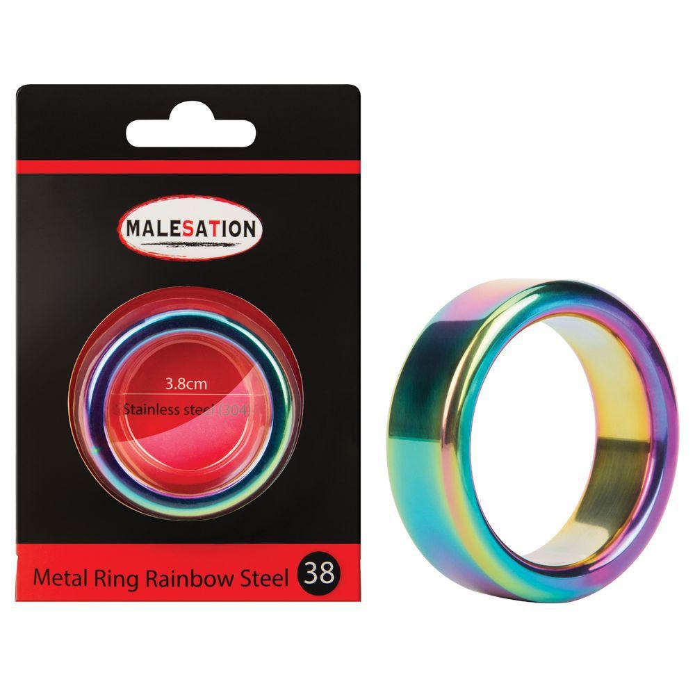 malesation metal ring rainbow 38 mm penisring kaufen. Black Bedroom Furniture Sets. Home Design Ideas