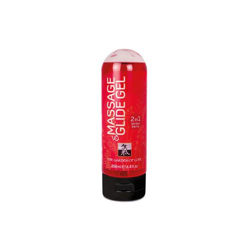 Massage & Gleitgel 2in1 Strawberry, 200 ml